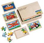 Boîte de puzzles XL - Véhicules, 11 éléments