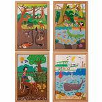 Puzzles XL - Sous terre & sous l'eau, 4 pièces