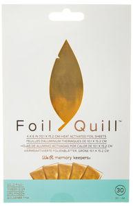 Foil Quill Folienblätter, 30 Blatt gold