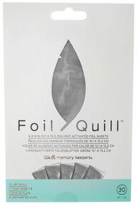 Foil Quill Folienblätter, 30 Blatt silber
