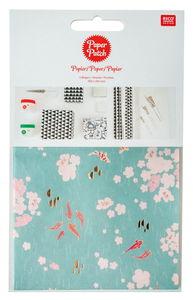 Paper Patch Papier, 3 Bogen Kois und Blumen