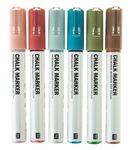 Rico Design Chalk Marker 6er-Set Erdfarben