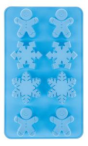 Siliconen vorm ijskristal/peperkoekman, 8 motieven