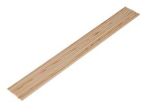 Baguettes rondes en hêtre/bois dur , 10 pièces