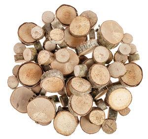 Rondelles de bois, 2 kg (env. 84 pièces)