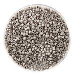 Delica Beads (2 mm), 4 g platinfarben matt