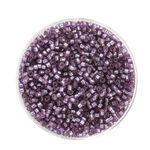 Delica Beads (2 mm), 7 g lila matt  Silbereinzug