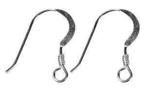 Crochets d'oreille en argent , 2 pièces