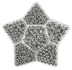 Caja - Estrella de perlas plateadas (118 g)