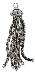 Metall-Quaste, altplatinfarben (11 x 60 mm)