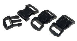 Klikgespen (30 x 15 mm) zwart, 3 stuks