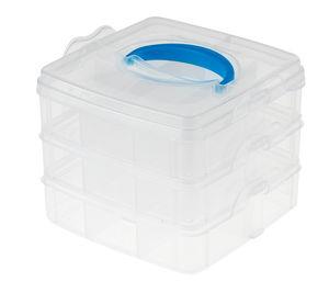Sortierbox stapelbar transparent (15x15x12,5cm)