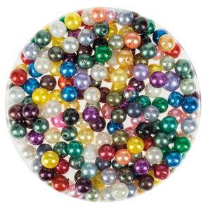 Perles nacrées en cire -Bille-, Diam....,