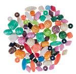 Perlas de plástico (120 g) colores surtidos