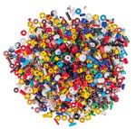 Mezcla de perlas de vidrio, colores surtidos, 240g