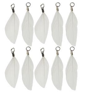 Hangers - Veren, wit, 10 stuks