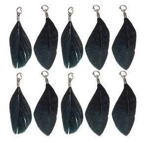 Hangers - veren, zwart, 10 stuks