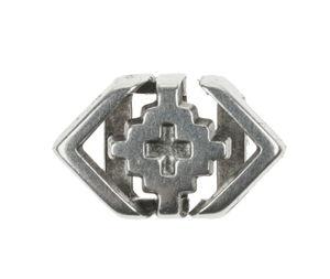 Metallzwischenteil platin (12x8 mm, innen 5 mm)