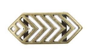 Metallzwischenteil altgold (28x11 mm, innen 10mm)