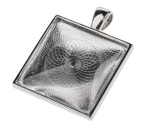 Colgante de metal con cabujón cuadrado (25 x 25mm)