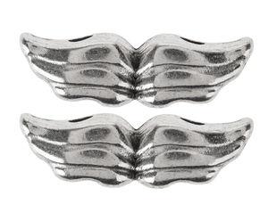 Metall-Flügel, 2 Stück platinfarben (20x6 mm)