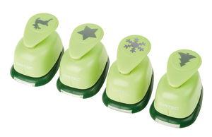 Opitec Motivstanzer S, 4er-Set Weihnachten (grün)