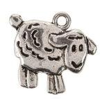 Pendentif en métal - Mouton, Couleur:...,