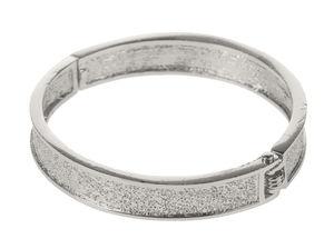 Metall-Armreif, platinfarben  (10 x 65 mm)