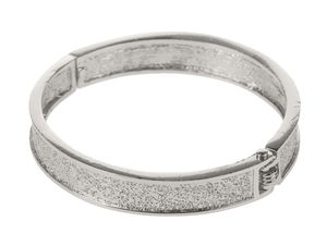Bracelet métallique, platine (10 x 65 mm)