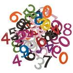 Houten getallen om te rijgen (21 mm) bont,50 stuks