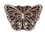 Houten stempel 'Vlinder', 13 cm