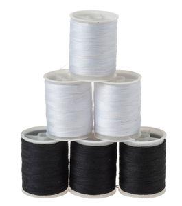 Naaigaren op spoel (60 m) zwart en wit, 6 stuks
