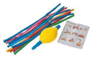 Ballons de baudruche modelables x10, avec pompe