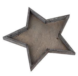 Bandeja de madera - Estrella (40 x 3 cm)