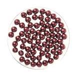 Perles en verre reflet 4 mm, 75 pièces marron