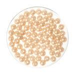 Perles en verre reflet 4 mm, 75 pièces beige