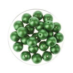 Perles en verre reflet 8 mm, 25 pièces vert clair