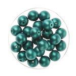 Perles en verre reflet 8 mm, 25 pièces vert foncé
