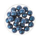 Glasperlen Schimmer, 25 Stück dunkelblau (8 mm)