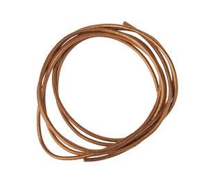 Cordon en cuir, 10 pièces naturel métallique