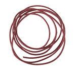 Cordon en cuir, 10 pièces rouge foncé métallique