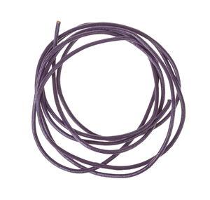 Lederbänder, 1m metallic lila 10 Stück (1,5mm)