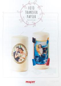 Foto transferpapier voor kaarsen (A4)