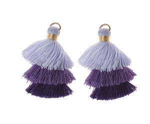 Borla con corchete,púrpura/lila/púrpura oscuro, 2u