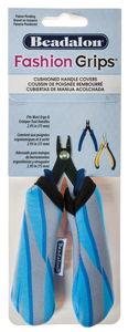 Beadalon Fashion Grips, Tigermuster blau