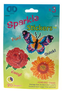 Diamond Dotz® Sticker Blumen Classic, 3er-Set