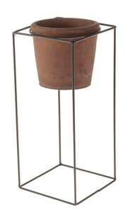 Bloempotje met staander (13x13x31 cm) terracotta