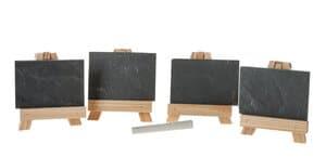Mini schoolborden op schildersezel, 9-delig
