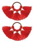 Glands avec anneau, 2 pièces, rouge clair
