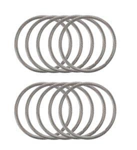 Metallzwischenteil Ring, 10 Stück (30 mm)
